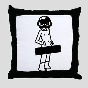 Censored Gimp Throw Pillow