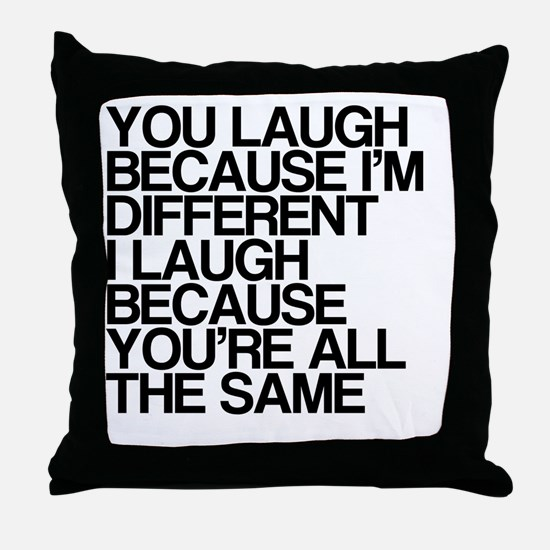 Differences Throw Pillow