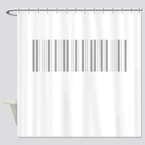 Silver Barcode Shower Curtain