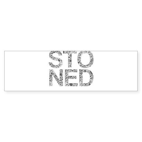 STONED, Rock Typography, Sticker (Bumper)