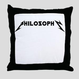 Philosophy ROCKS Throw Pillow