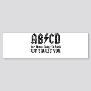 ABCD, We Salute You, Sticker (Bumper)