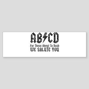 ABCD, We Salute You, Sticker (Bumper)