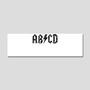 ABCD, Vintage, Car Magnet 10 x 3