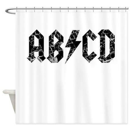 ABCD, Vintage, Shower Curtain