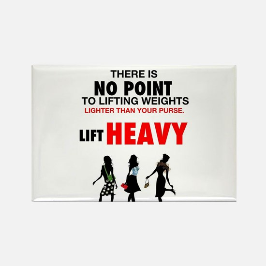 Hot Girls Lift Heavy Rectangle Magnet