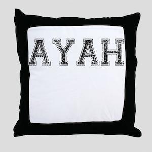 AYAH, Vintage Throw Pillow
