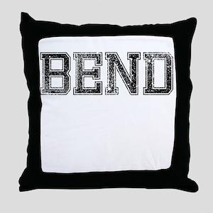 BEND, Vintage Throw Pillow