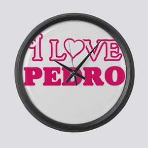 I Love Pedro Large Wall Clock