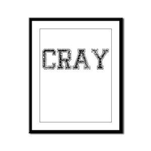 CRAY, Vintage Framed Panel Print