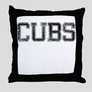 CUBS, Vintage Throw Pillow