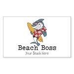 Beach Boss Sticker (Rectangle 50 pk)