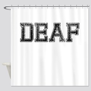 DEAF, Vintage Shower Curtain