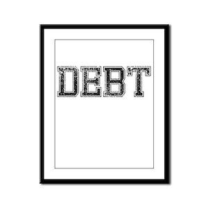 DEBT, Vintage Framed Panel Print