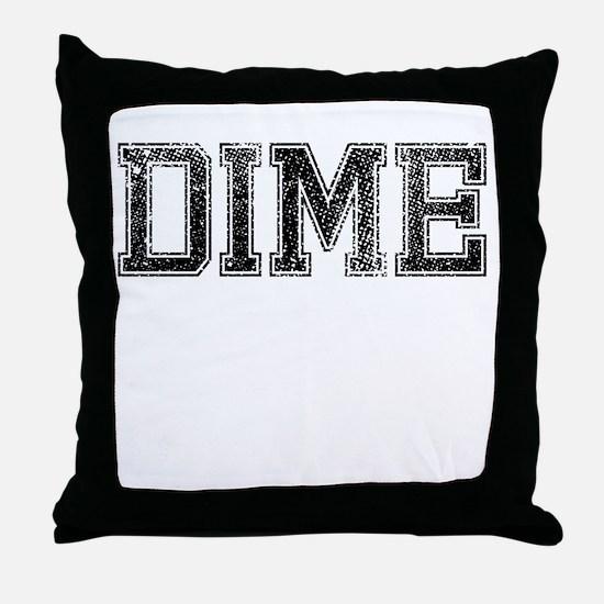 DIME, Vintage Throw Pillow