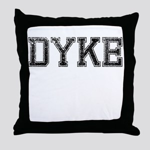DYKE, Vintage Throw Pillow