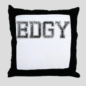 EDGY, Vintage Throw Pillow