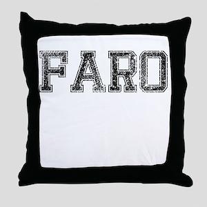 FARO, Vintage Throw Pillow