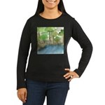Trees by the sea 1 Women's Long Sleeve Dark T-Shir