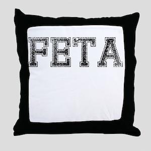FETA, Vintage Throw Pillow