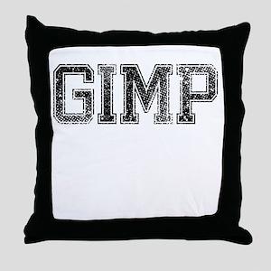 GIMP, Vintage Throw Pillow