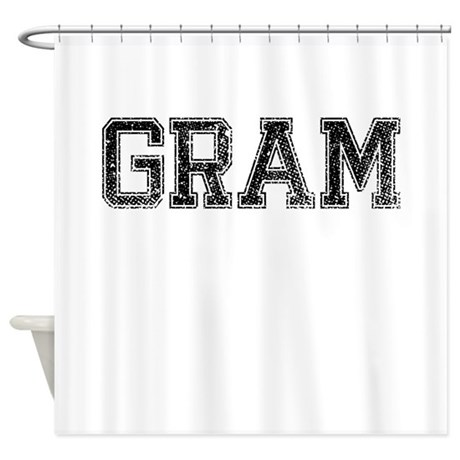 GRAM, Vintage Shower Curtain