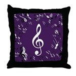 Treble Clef Music Gift Throw Pillow