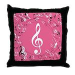 Music Teacher Treble Clef Gift Throw Pillow