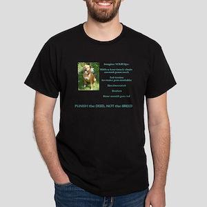 Bull Breed Education Aqua Print Dark T-Shirt