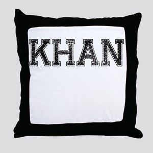 KHAN, Vintage Throw Pillow
