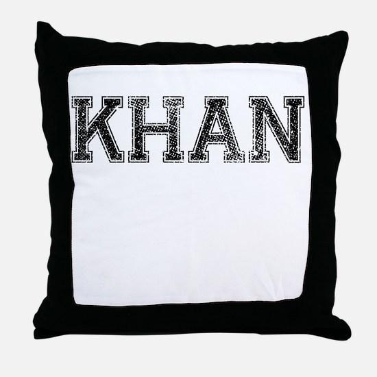 KHAN, Vintage Throw Pillow