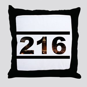Straight Outta 216 Throw Pillow