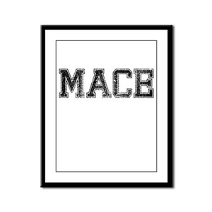 MACE, Vintage Framed Panel Print