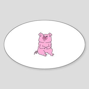 PIGGY POWER Oval Sticker