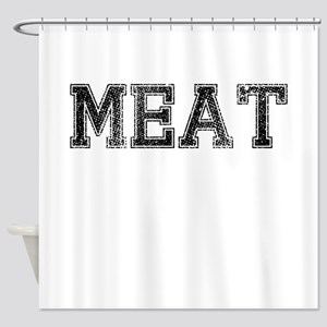 MEAT, Vintage Shower Curtain