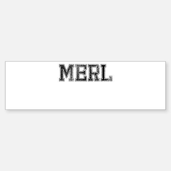 MERL, Vintage Sticker (Bumper)