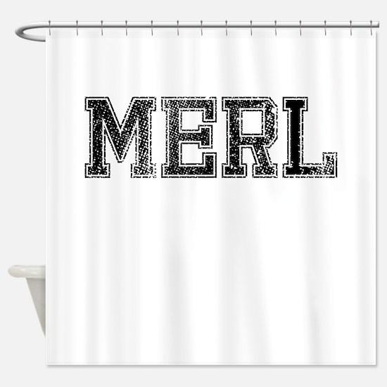 MERL, Vintage Shower Curtain