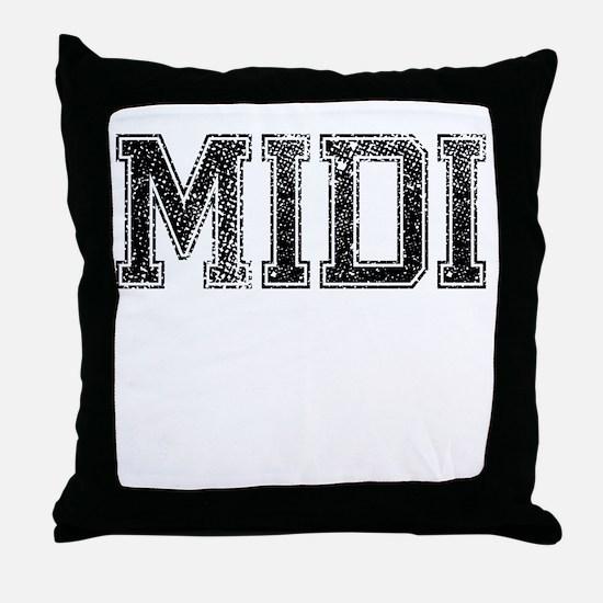 MIDI, Vintage Throw Pillow