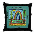 Straight Not Narrow Throw Pillow