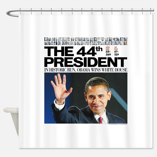 44th President.png Shower Curtain
