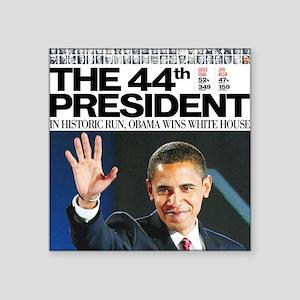 "44th President Square Sticker 3"" x 3&quot"
