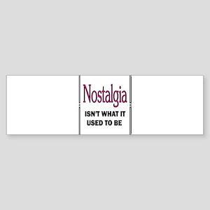 NOSTALGIA Sticker (Bumper)