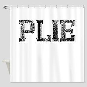 PLIE, Vintage Shower Curtain