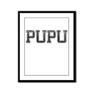 PUPU, Vintage Framed Panel Print