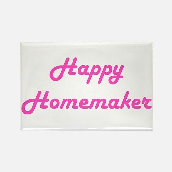Happy Homemaker (pink) Rectangle Magnet