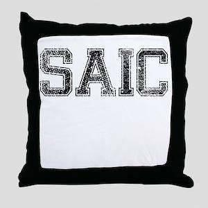 SAIC, Vintage Throw Pillow
