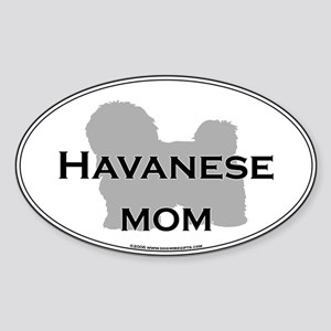 Havanese MOM Oval Sticker