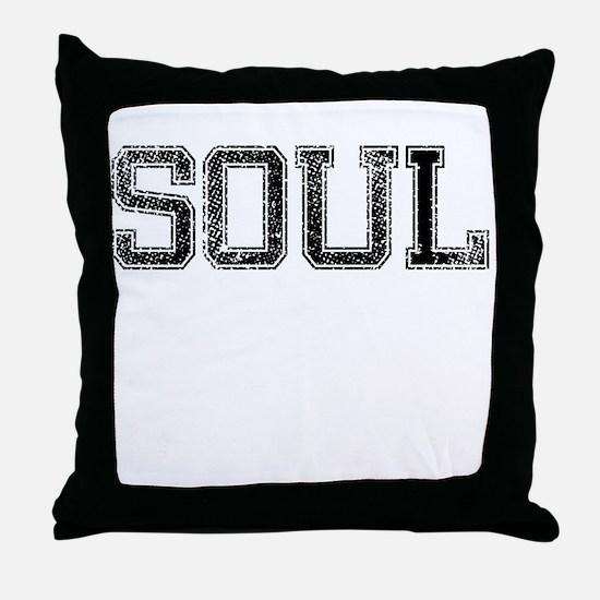 SOUL, Vintage Throw Pillow