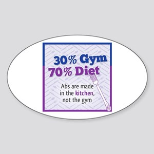 Abs Are Built In The Kitchen Sticker (Oval)