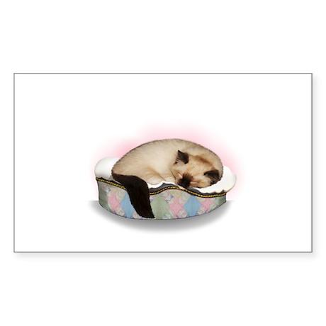 Ragdoll Cat Sticker (Rectangle)